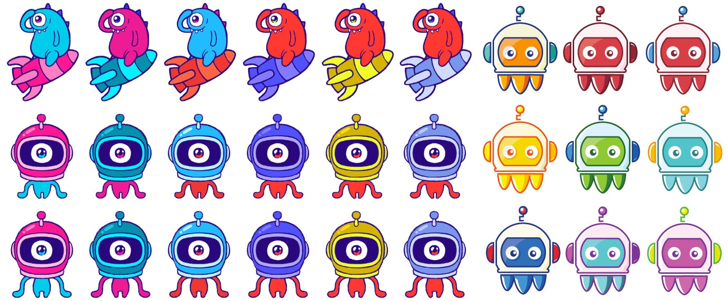 Color Studies For The Monstronauts Logo